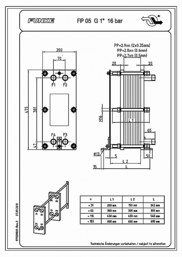 Пластины теплообменника Funke FP 300 Ачинск клапан отключения теплообменника